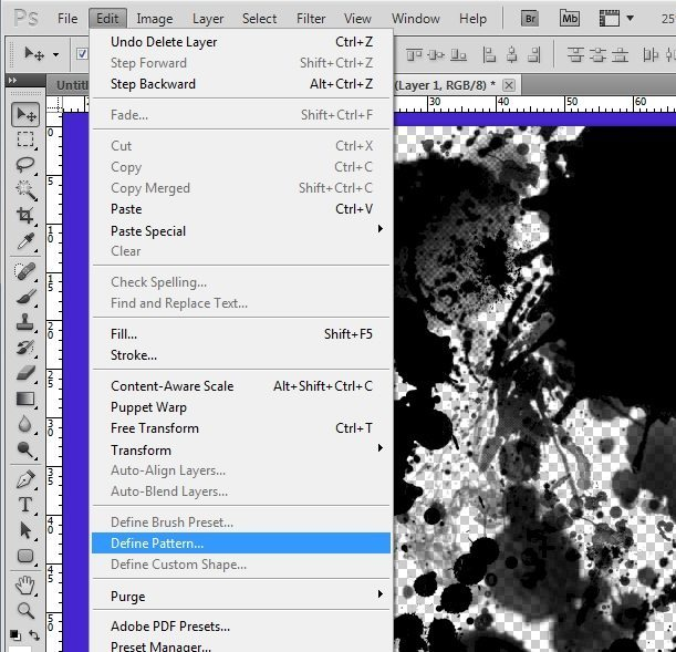 Edit - Define Pattern