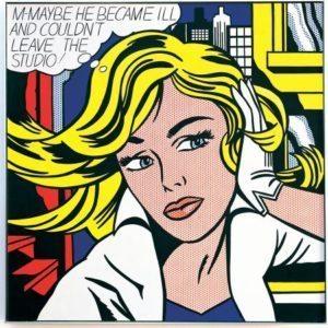 Roy Lichtensteing painting M-Maybe