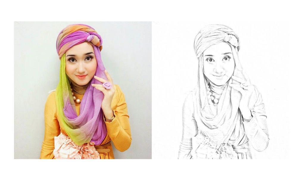 Cara Mudah Mengubah Foto Menjadi Sketsa Pensil Di Photoshop Kelas Desain Belajar Desain Grafis Mudah