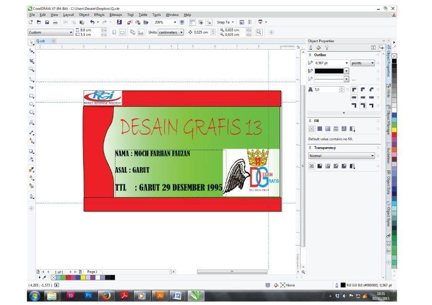 Cara Membuat Id Card Dengan Coreldraw Kelas Desain Belajar Desain Grafis Mudah