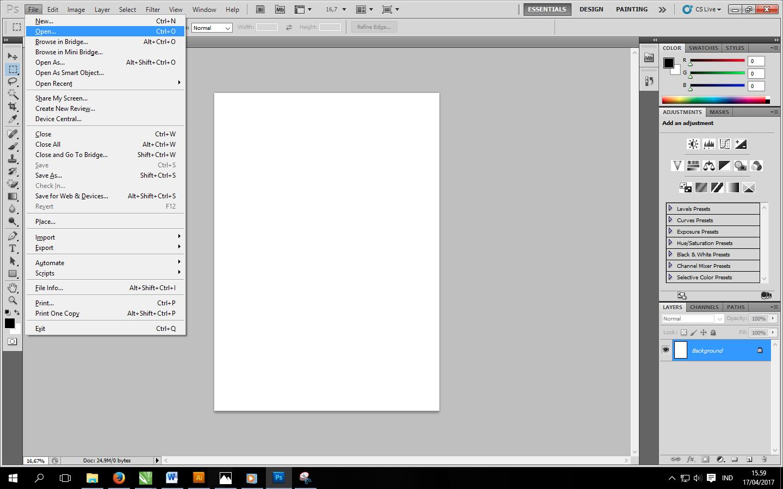 Cara Memasukkan Gambar Ke Lembar Kerja Photoshop Kelas Desain Belajar Desain Grafis Mudah