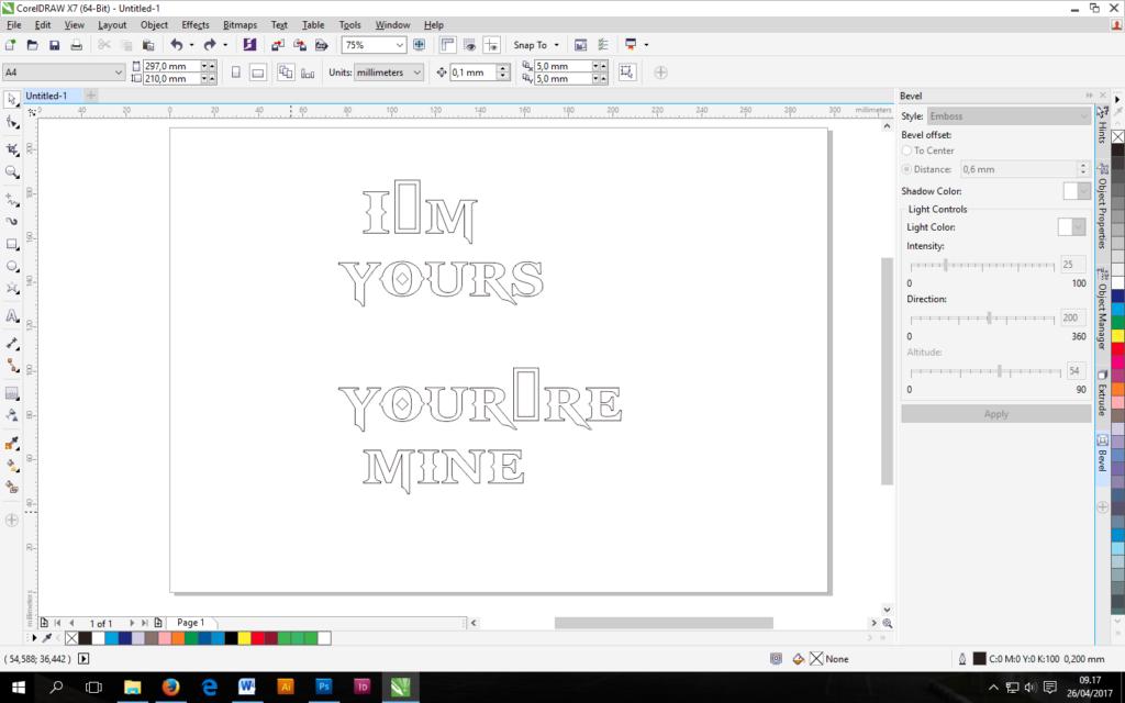 Tutorial Cara Membuat Efek Contour Tebal Tipis Pada Objek Di Coreldraw Kelas Desain Belajar Desain Grafis Mudah