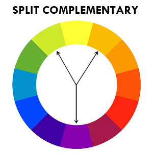 skema warna split complementary