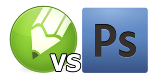 Corel-vs-Photoshop-logo