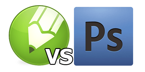 Corel-vs-Photoshop-logo
