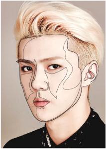 vektor wajah